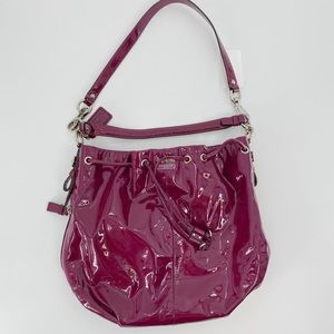 Coach Madison patent leather marielle bag berry